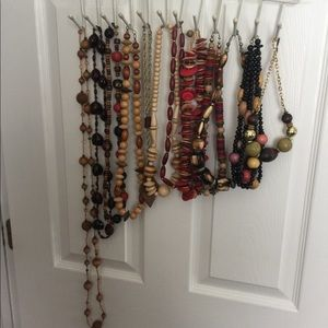 Lot of 12 wood bead necklaces